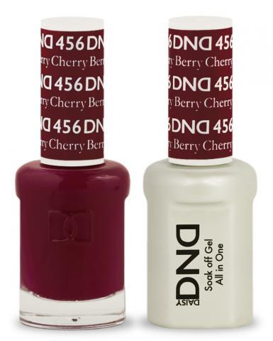 Dnd Gel Polish Nail Lacquer Duo 456 Cherry Berry 15ml Liberty Nail Supplies